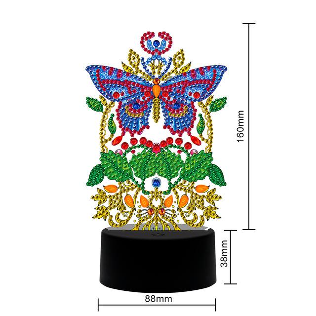 The Royal Butterfly Table Lamp Diamond Painting Light DP  - Pretty Neat Creative