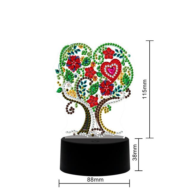 The Tree Of Love Table Lamp Diamond Painting Light DP  - Pretty Neat Creative
