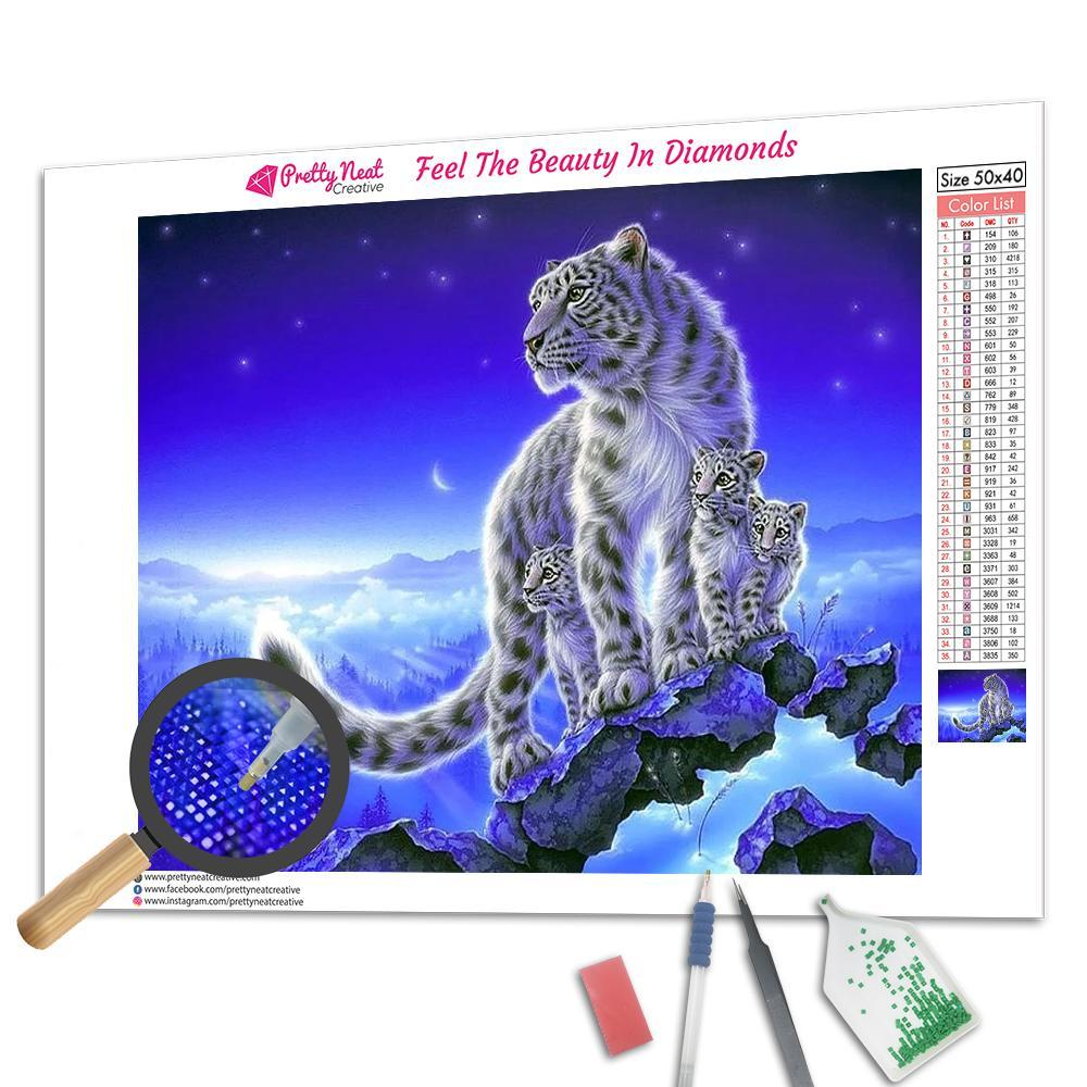 Tiger Family 5D Square Diamond Painting