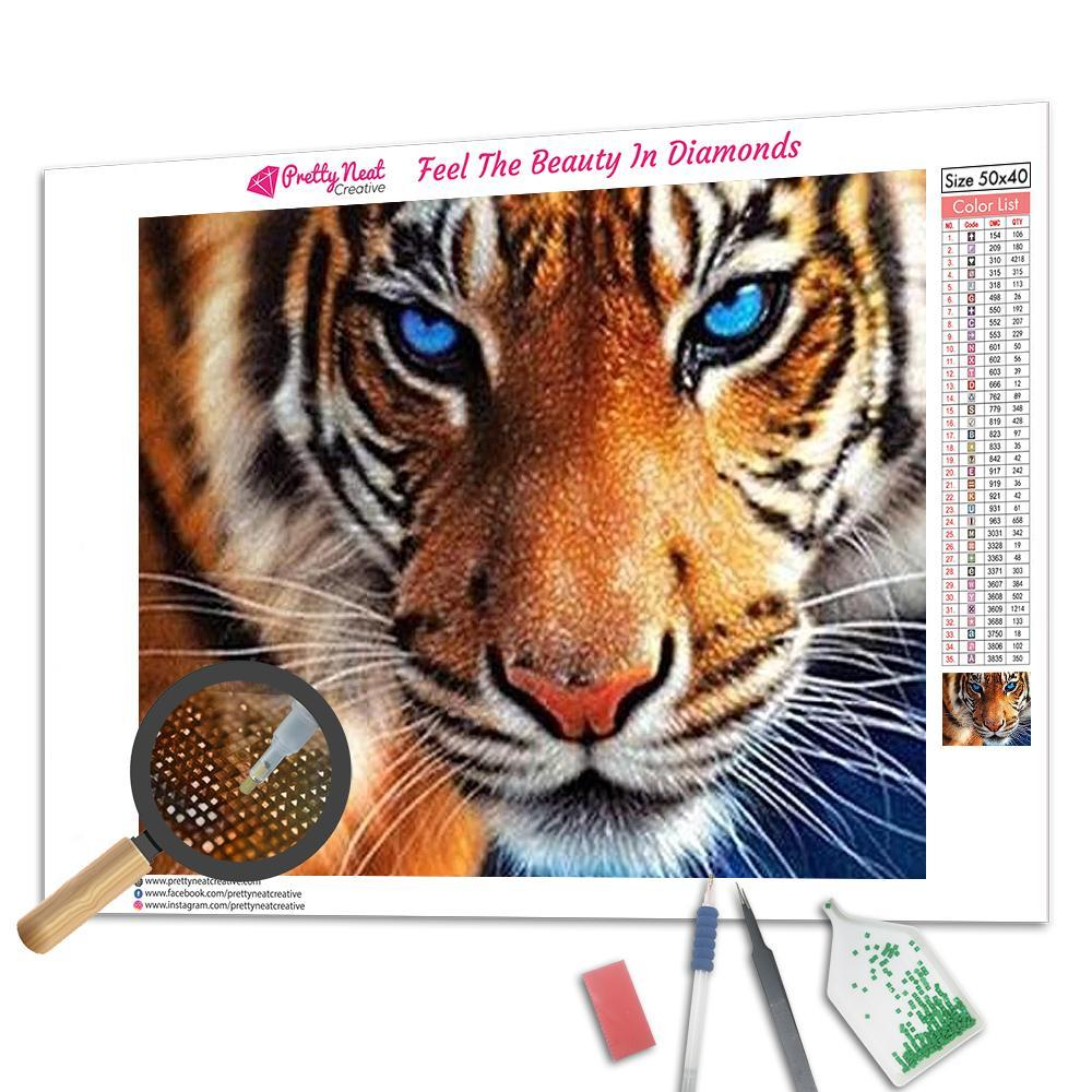 Tiger Square 5D Diamond Painting