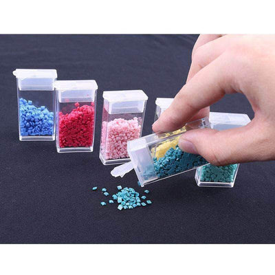 Transparent Plastic Drill Storage Box Diamond Painting