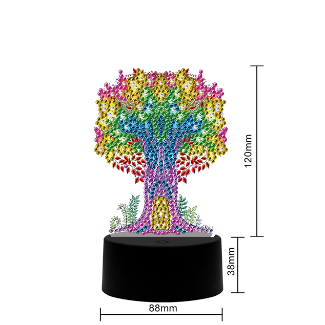 Tree Of Life Table Lamp Diamond Painting Light DP  - Pretty Neat Creative