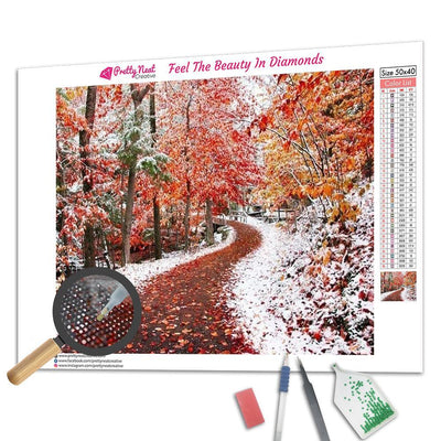 Two Seasons Square Diamond Painting