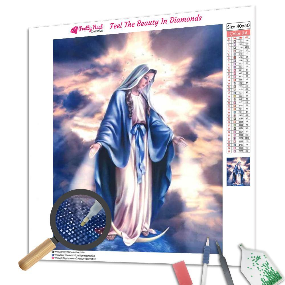 Virgin Mary Diamond Painting