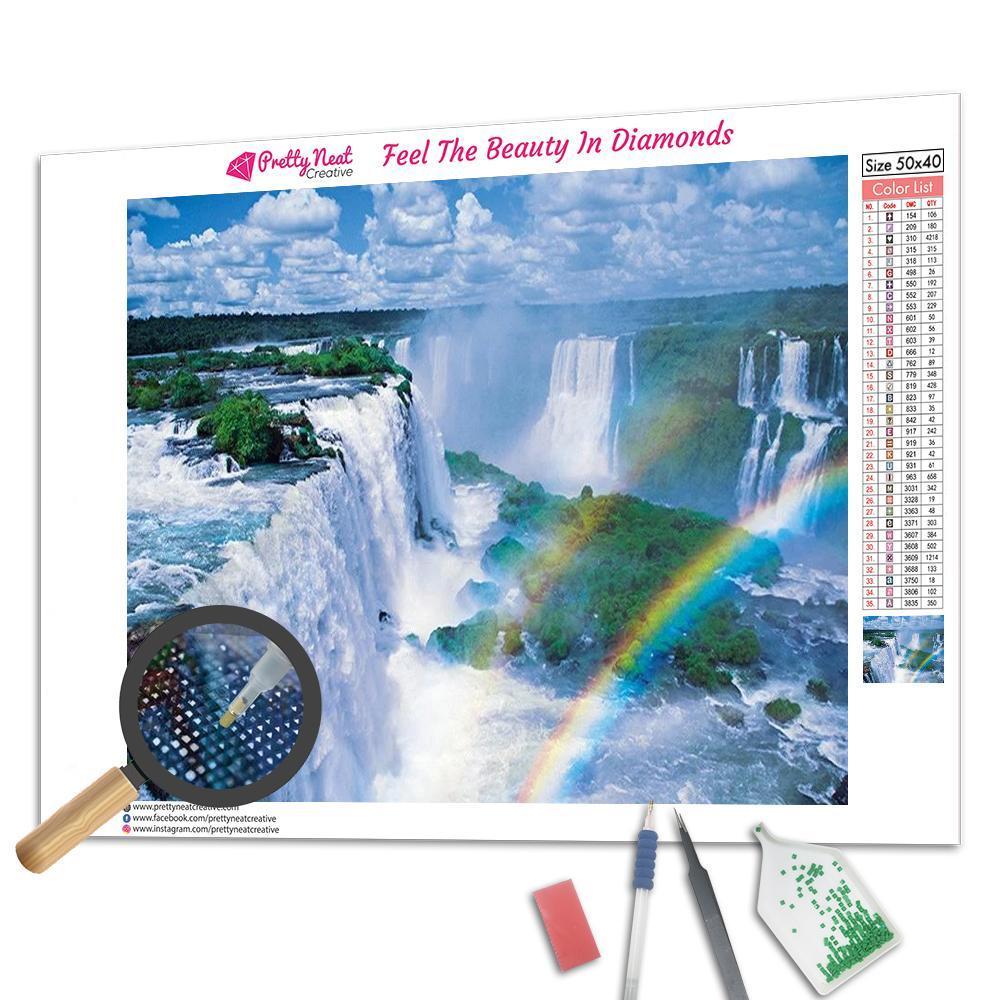 Waterfall Rainbow Square Diamond Painting