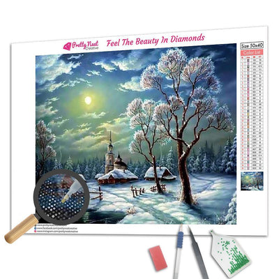 Winter Village Diamond Painting