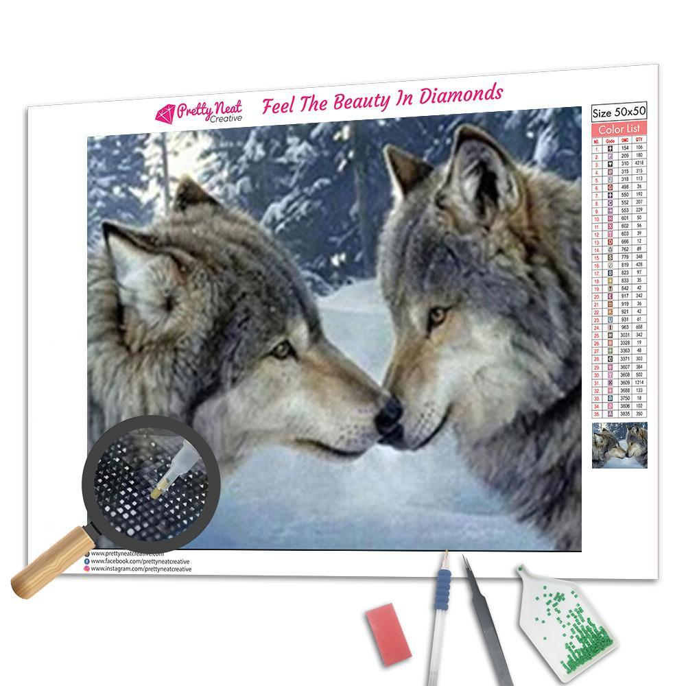 Wolf That Mate for Life Square Diamond Painting
