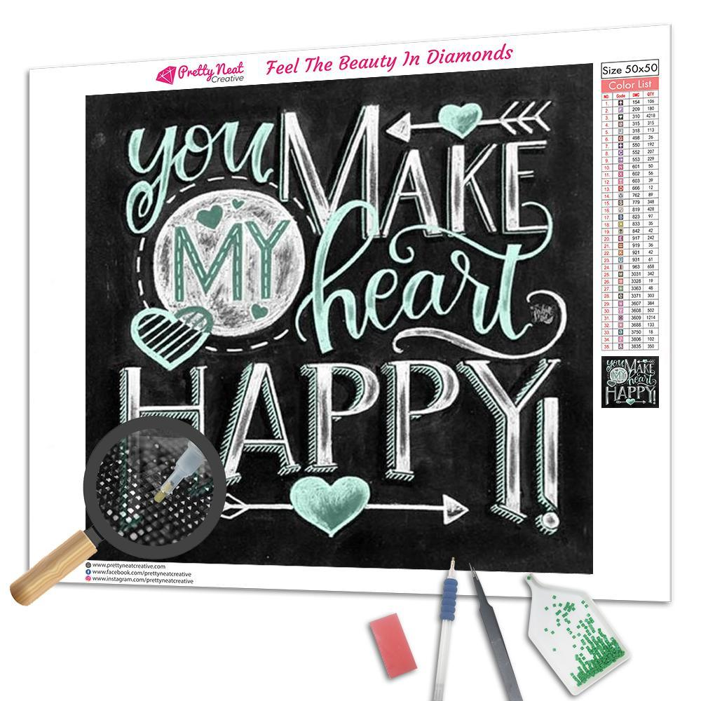 You Make My Heart Happy Square Diamond Painting