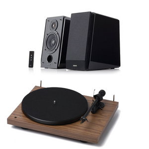 Pro-Ject Debut Recordmaster & Edifier R1700BT (Black speakers) PACKAGE DEAL