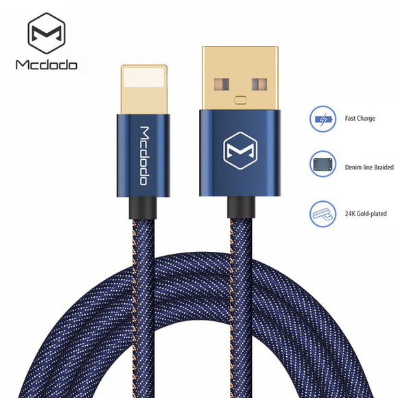 MCDODO PREMIUM LIGHTNING CABLE HIGH-END DENIM FABRIC