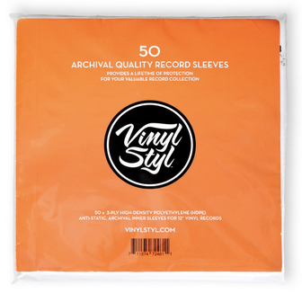 50 Pack Vinyl Styl Archive Quality Inner Record Sleeve Single