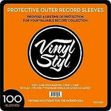 "Vinyl Styl 3-mil 12.75"" x 12.75"" Outer record Sleeves"