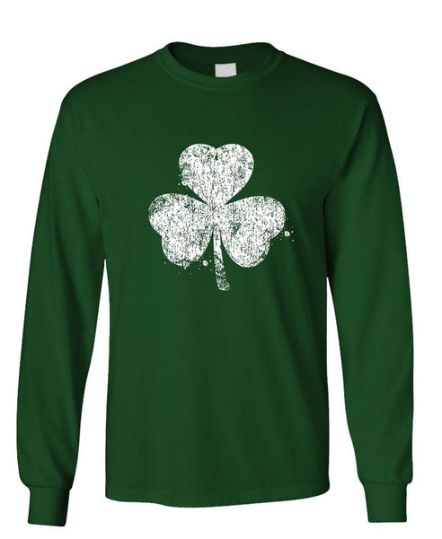SHAMROCK distressed - Unisex Cotton Long Sleeved T-Shirt (lstee)