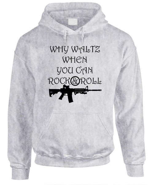 WHY WALTZ WHEN YOU CAN ROCK & ROLL - Fleece Pullover Hoodie (fleece)