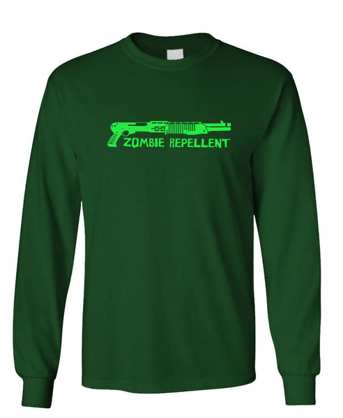 ZOMBIE REPELLANT - Unisex Cotton Long Sleeved T-Shirt (lstee)
