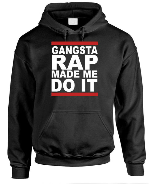 GANGSTA RAP - hip hop music - Fleece Pullover Hoodie (fleece)
