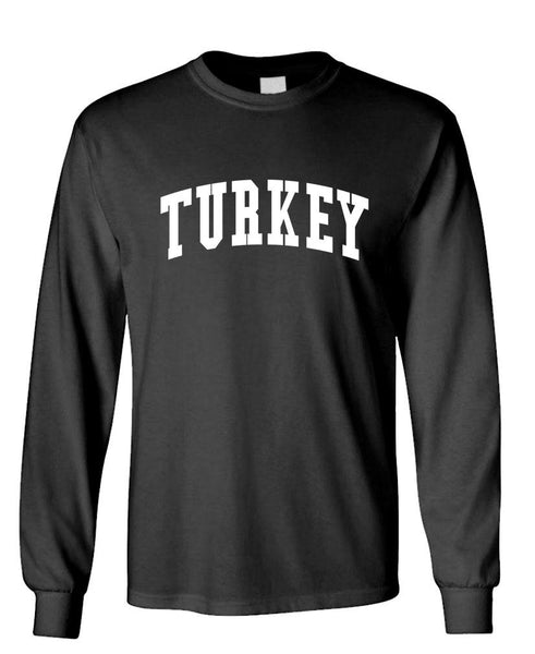 TURKEY - Homeland Country Pride - Unisex Cotton Long Sleeved T-Shirt (lstee)