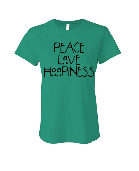 PEACE LOVE HOOPINESS - Cotton LADIES T-Shirt (ladies)