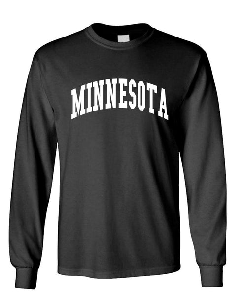 MINNESOTA - united states usa patriot - Unisex Cotton Long Sleeved T-Shirt (lstee)