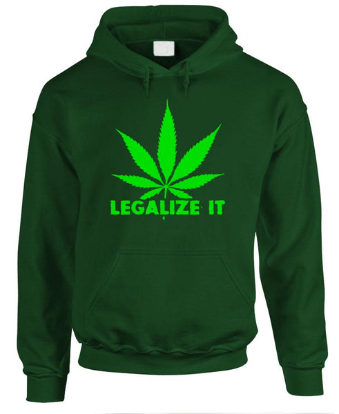 LEGALIZE IT - 420 marijuana drugs smoke - Fleece Pullover Hoodie (fleece)