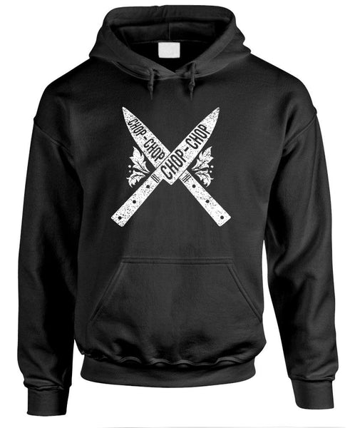 CHOP CHOP KNIVES cooking chef kitchen knife - Fleece Pullover Hoodie (fleece)