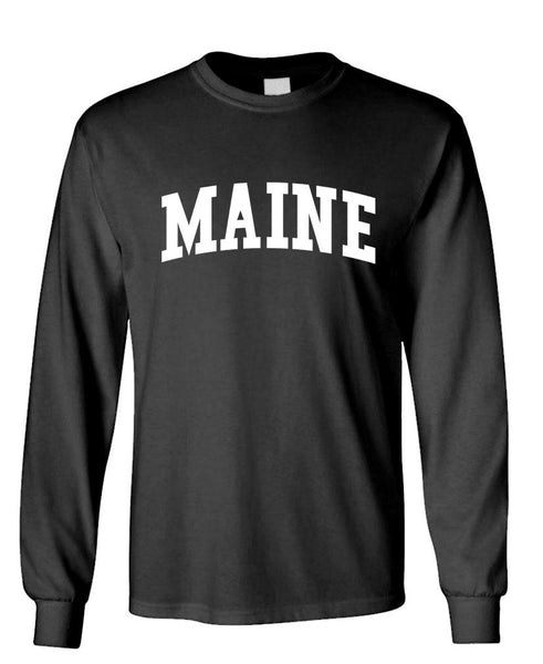 MAINE - united states usa patriot - Unisex Cotton Long Sleeved T-Shirt (lstee)