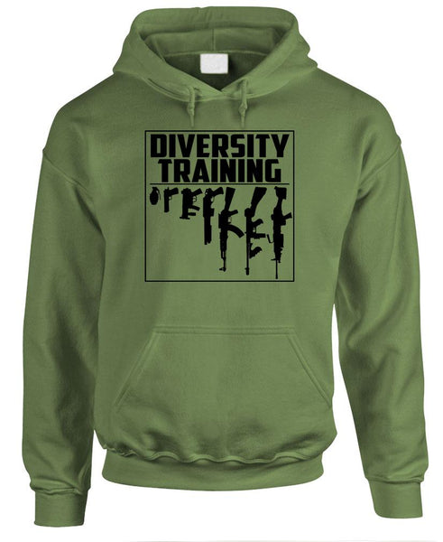 DIVERSITY TRAINING - Gun Rights 2Nd Second - Fleece Pullover Hoodie (fleece)