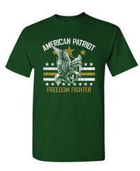 AMERICAN PATRIOT - Unisex Cotton T-Shirt Tee Shirt (tee)