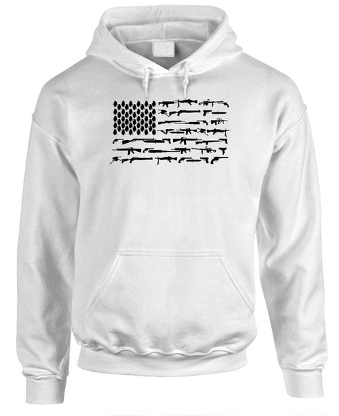 FIREARMS AMERICAN FLAG - Fleece Pullover Hoodie (fleece)