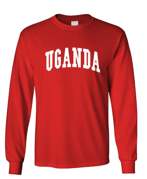 UGANDA - Homeland Country Pride - Unisex Cotton Long Sleeved T-Shirt (lstee)