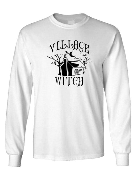 VILLAGE WITCH - Unisex Cotton Long Sleeved T-Shirt (lstee)