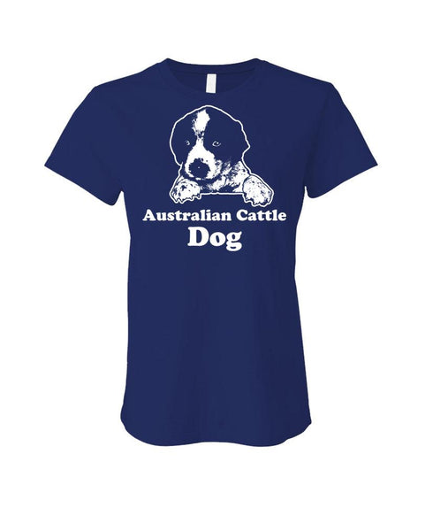 Australian CATTLE DOG - Cotton LADIES T-Shirt (ladies)