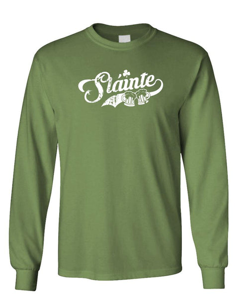 SLAINTE - Unisex Cotton Long Sleeved T-Shirt (lstee)