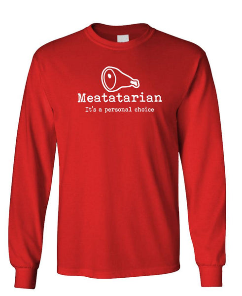 MEATATARIAN - carnivore meat eater - Unisex Cotton Long Sleeved T-Shirt (lstee)