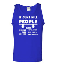 IF GUNS KILL PEOPLE - Unisex Cotton Tanktop Tank Top (tank)