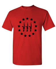 THREE PERCENTER AK-47 STAR CIRCLE - 3 2nd - Cotton Unisex T-Shirt (tee)