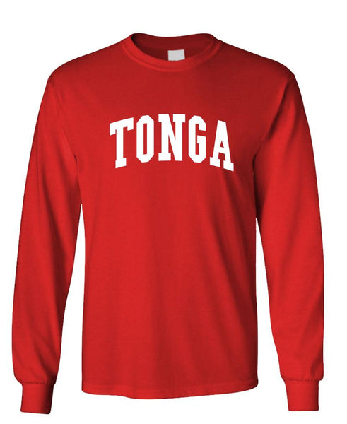 TONGA - Homeland Country Pride - Unisex Cotton Long Sleeved T-Shirt (lstee)