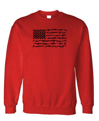 FIREARMS AMERICAN FLAG - Fleece Crew Neck Pullover Sweatshirt (fleece)