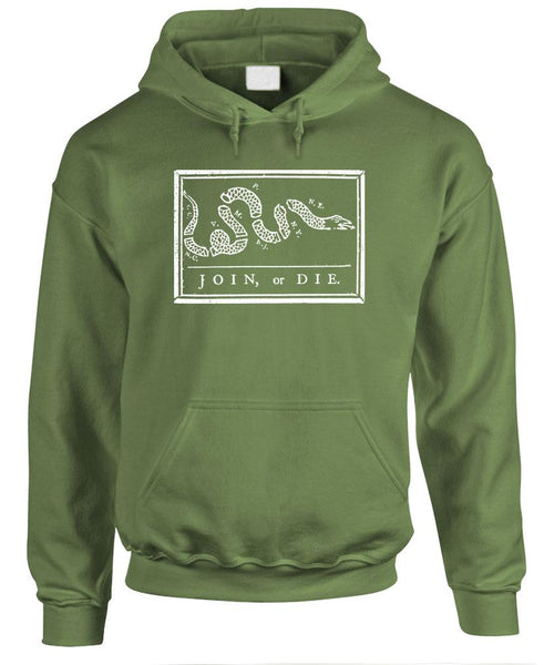 JOIN OR Die Usa American Patriot Defend - Fleece Pullover Hoodie (fleece)