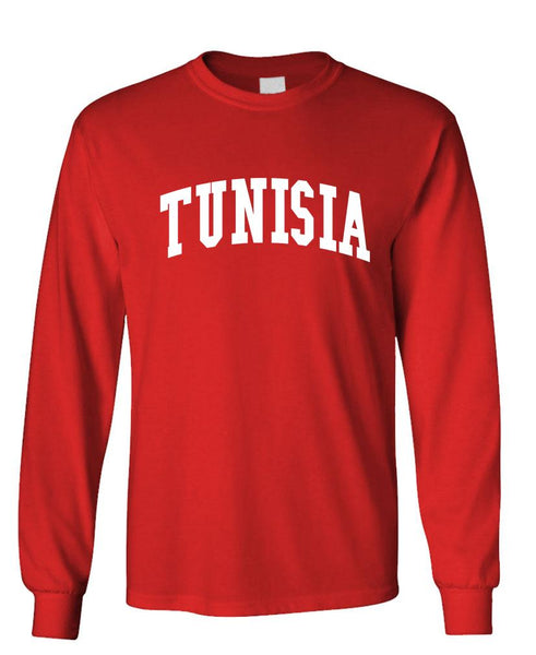 TUNISIA - Homeland Country Pride - Unisex Cotton Long Sleeved T-Shirt (lstee)