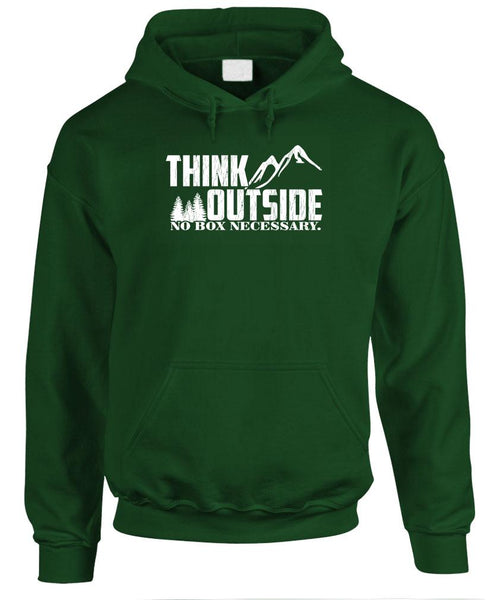 THINK OUTSIDE - No Box Necessary - Fleece Pullover Hoodie (fleece)