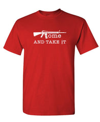 COME and TAKE IT - Unisex Cotton T-Shirt Tee Shirt (tee)