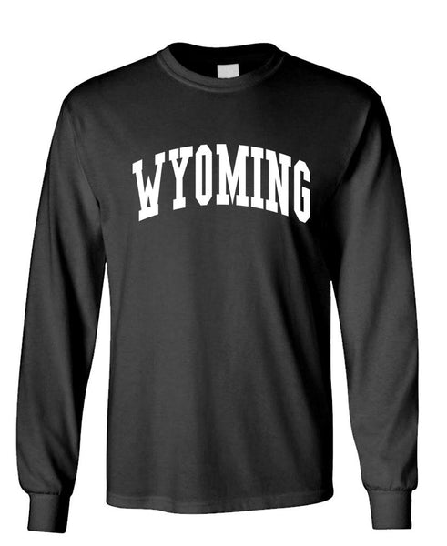 WYOMING - united states usa patriot - Unisex Cotton Long Sleeved T-Shirt (lstee)