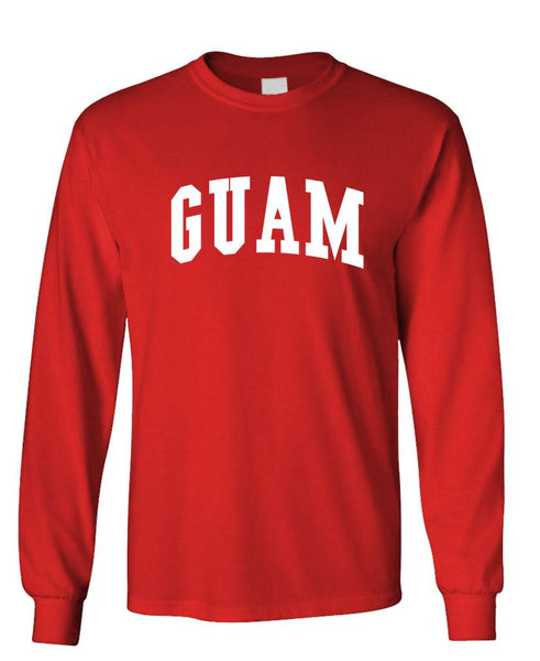 GUAM PRIDE - united states usa patriot - Unisex Cotton Long Sleeved T-Shirt (lstee)