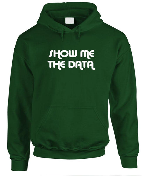 SHOW ME The Data - Fake News Politics - Mens Pullover Hoodie (fleece)