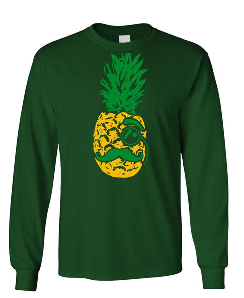 MR PINEAPPLE - Unisex Cotton Long Sleeved T-Shirt (lstee)