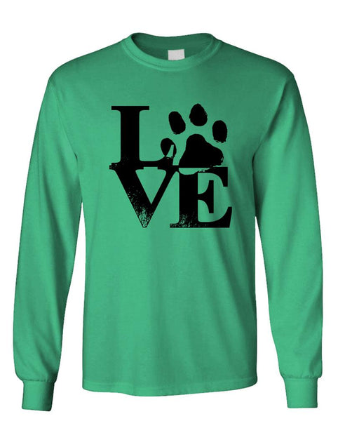 PAW LOVE - Unisex Cotton Long Sleeved T-Shirt (lstee)