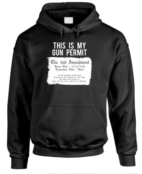 THIS IS My Gun Permit - 2Nd Amendment Usa - Fleece Pullover Hoodie (fleece)