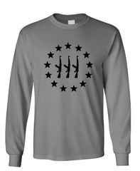 THREE PERCENTER AK-47 STAR CIRCLE - 3 2nd - Long Sleeved Tee (lstee)