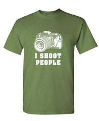 I SHOOT PEOPLE - camera photography film - Mens Cotton T-Shirt (tee)